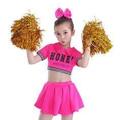 Dance Dresses, Girls Dresses, Flower Girl Dresses, Cheap Dance Costumes, Girls Cheerleader Costume, Kids Cheering, Cat Costumes, Cheerleading, Cheer Skirts