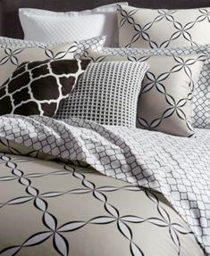 Charter Club Damask Designs Pima Cotton Outlined Geo 3-Pc. Full/Queen Duvet Cover Set, Only at Macy's - Tan/Beige