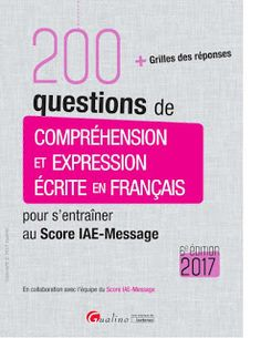 COMPREHENSION  et EXPRESSION  ÉCRITE en FRANÇAIS http://dzofferz.blogspot.com/2017/04/comprehension-et-expression-ecrite-en.html