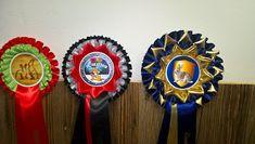 Karin's Schleifen-Werkstatt: Schleifen für Hasen, Vereinsausstellung, Neujahrss... Ceiling Medallions, Badges, Workshop