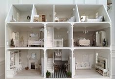 Good morning lovelies! For those who asked about a picture of the whole dolls house I'm working on, here it is! Still to finish the bathroom and cornices on the top floor and then I can start with the basement, roof, etc. Have a fabulous Sunday!