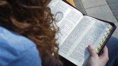 Ad: Woman sitting on a bench in the park reading books of the Bible | Shutte ..., #bench #Bible #books #Comfortableapartment #Park #Pleasantaesthetics #Reading #Shutte #sitting #woman