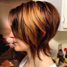 krótka cieniowana fryzura | Fryzury