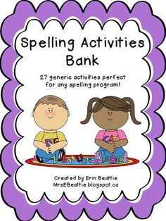 Generic Spelling Activities for ANY Word List from Mrs. Beattie's Classroom: Use this bank of 27 spelling activities with ANY word list in your spelling program!  This bank gives your students the power of choice in four categories of spelling activities: -Understanding Meaning, -Working With Letters, -Word Play, and -Vocabulary Development.
