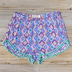 Cloud Break Native Shorts in Sky, Sweet Native Shorts from Spool 72. | Spool No.72