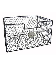 Look what I found on #zulily! Wire 'Storage' Basket #zulilyfinds   .....   hanging storage behind door