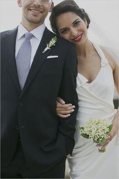 elegant bride and groom look #groom #bride #weddingchicks http://www.weddingchicks.com/2014/02/11/relaxed-california-wedding/