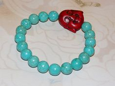 Buddha Magnesite-Howlite Bracelet   Coupon Code 25OFF for 25% off