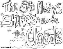 Printable, coloring quotes and sayings. Huge variety of coloring projects