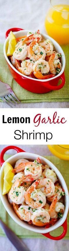 Lemon Garlic Shrimp – easiest and best shrimp recipe with lemon, garlic, butter, and shrimp, all ready in 20 mins. | rasamalaysia.com