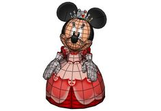Disney - Minnie Mouse Free Papercraft Download - http://www.papercraftsquare.com/disney-minnie-mouse-free-papercraft-download.html#Disney, #MinnieMouse