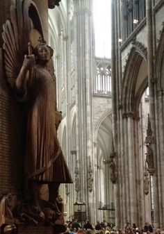 Enchanting Cologne, Germany. This cathedral is spectacular at every angle. I think it the largest gothic cathedral in the world.