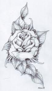 Rose Sleeve Tattoo Sketch