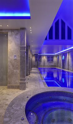 Great architecture and pool  Exceptional indoor pool by Portrait Pools-United Kingdom
