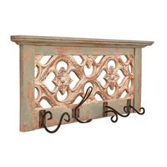 You get the best of both worlds with the Vintage Green Wooden Wall Plaque! It features four decorative metal hooks along with a gorgeous, rustic green finish. Home Decor Furniture, Furniture Makeover, Wooden Wall Plaques, Wall Organization, Wall Hooks, Vintage Green, Wall Art Decor, Entryway Tables, Home Improvement