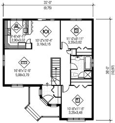 One-Story Style House Plan 49544 with 2 Bed, 1 Bath 2 Bedroom House Plans, Cottage Style House Plans, Bungalow House Plans, Cottage Style Homes, Cottage Plan, Craftsman House Plans, Cottage House, Best House Plans, Modern House Plans