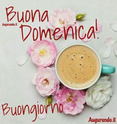 Dolce domenica Good Day, Good Morning, Italian Memes, Coffee, Link, Painting, Messages, Sunday, Kind Words