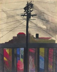 Joseph Stella -- Telegraph Pole -- (best known for his painting :The Brooklyn Bridge)