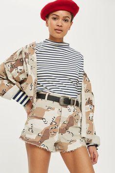 Spot Camouflage Utility Shorts
