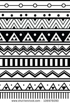 stock vector : Abstract geometric seamless pattern. Aztec style pattern with triangle and line