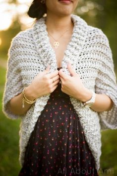 Easy Chunky Crochet Sweater - Free Pattern                                                                                                                                                                                 More