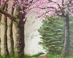 A Walk in Springtime ORIGINAL 24 x 36 Painting