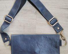 Black Leather Fanny Pack Belt Bag   Etsy Leather Belt Pouch, Leather Fanny Pack, Leather Bag, Black Leather, Hip Purse, Side Purses, Snap Bag, Napa Leather, Bags
