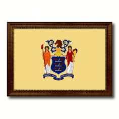 New Jersey State Flag Canvas Print, Picture Frame Gift Ideas Home Décor Wall Art Decoration