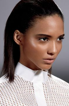 Martinique model Cora Emmanuel features as the face of the Fall 2013 MAC Prep+Prime Beauty Balm. The BB is said to even the skin tone,. Bb Beauty, Beauty Balm, Beauty Makeup, Hair Beauty, Mac Prep Prime, Dewy Skin, Looks Black, Flawless Makeup, Glowy Makeup
