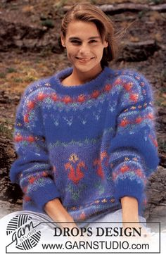 Drops 27-08 Ladies knitted sweater: Free Pattern