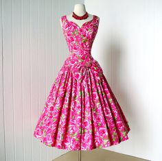 vintage 1950's dress gorgeous SUZY PERETTE new look by traven7, $320.00
