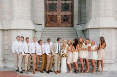 bridal party photos slc temple by Brooke Schultz http://brookeschultzphotography.com