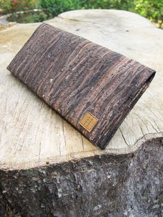 Paralife Custom Handmade Wooden Grain Cork Long Wallet / Clutch / Handbag / Purse (custom made size)