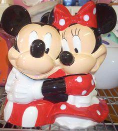Mickey & Minnie Mouse cookie jar