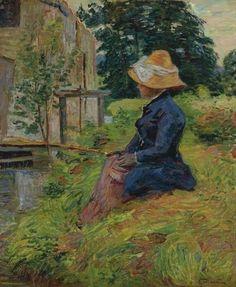 Armand Guillaumin - Mademoiselle Guillaumin à la pêche 1885