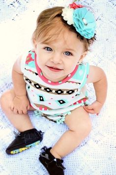 35e685785730 Gorgeous pink and blue aztec print summer jumper for your little Bahama  mama. This adorable