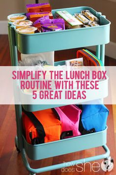Simplify the lunch box routine with these 5 great ideas! | How Does She