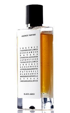Agonist - Black Amber    TOP NOTES: Incense, prune, red algae, labdanum    MIDDLE NOTES: Vetiver, tobacco, incense, cedarwood    BASE NOTES: Patchouli, amber, vanilla, sandalwood