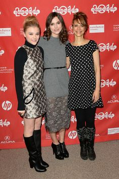 "Chloe Grace Moretz and Keira Knightley and director Lynn Shelton attend the ""Laggies"" premiere at Eccles Center Theatre during the 2014 Sundance Film Festival on January 17, 2014 in Park City, Utah."
