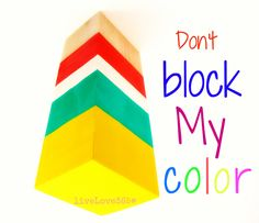 Never allow someone else's thoughts   or words dull your light!   Stand strong in your truth...  Don't let them color block you!
