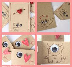 Cute Valentin's Day cards