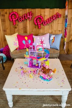 My Little Pony Birthday Party via Kara's Party Ideas KarasPartyIdeas.com Cake, decor, tutorials, recipes, favors and MORE! #mylittlepony #mylittleponyparty #ponyparty #rainbowparty #girlpartyideas (19)