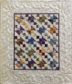 unusual pattern on white border  Miss Rosie by Jessica's Quilting Studio, via Flickr