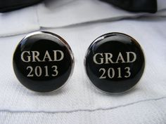 Grad 2013 Cufflinks Grad 2013 black cuff links by UpscaleTrendz, $39.00
