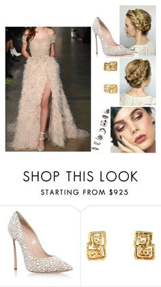 """""""TDG #9"""" by tynabrookler ❤ liked on Polyvore featuring Elie Saab and Casadei"""
