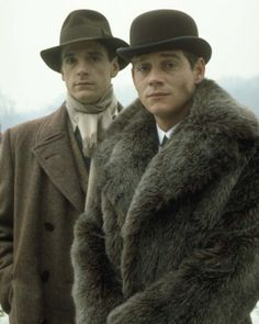 Lord Sebastian Flyte (Anthony Andrews) and Charles Ryder (Jeremy Irons) in the 1981 adaptation of 'Brideshead Revisited'