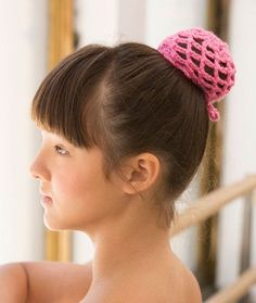 Born to Dance Bun Cover Free Crochet Pattern in Red Heart Yarns