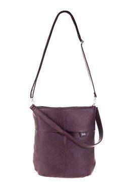 Frauentaschen :: MADEMOISELLE.M M12 | ZWEI Taschen Tasche :: plum :: Pflaume :: lederfrei