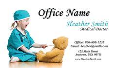 Pediatrician business card from www.printifycards.com #printifycards