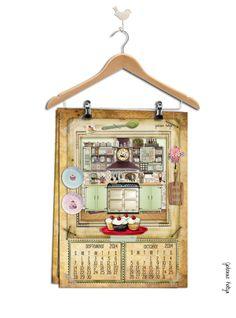 Kalendár stačí vytlačiť (ideálny je formát A3) a takto zavesiť na obyčajný vešiak na šaty...